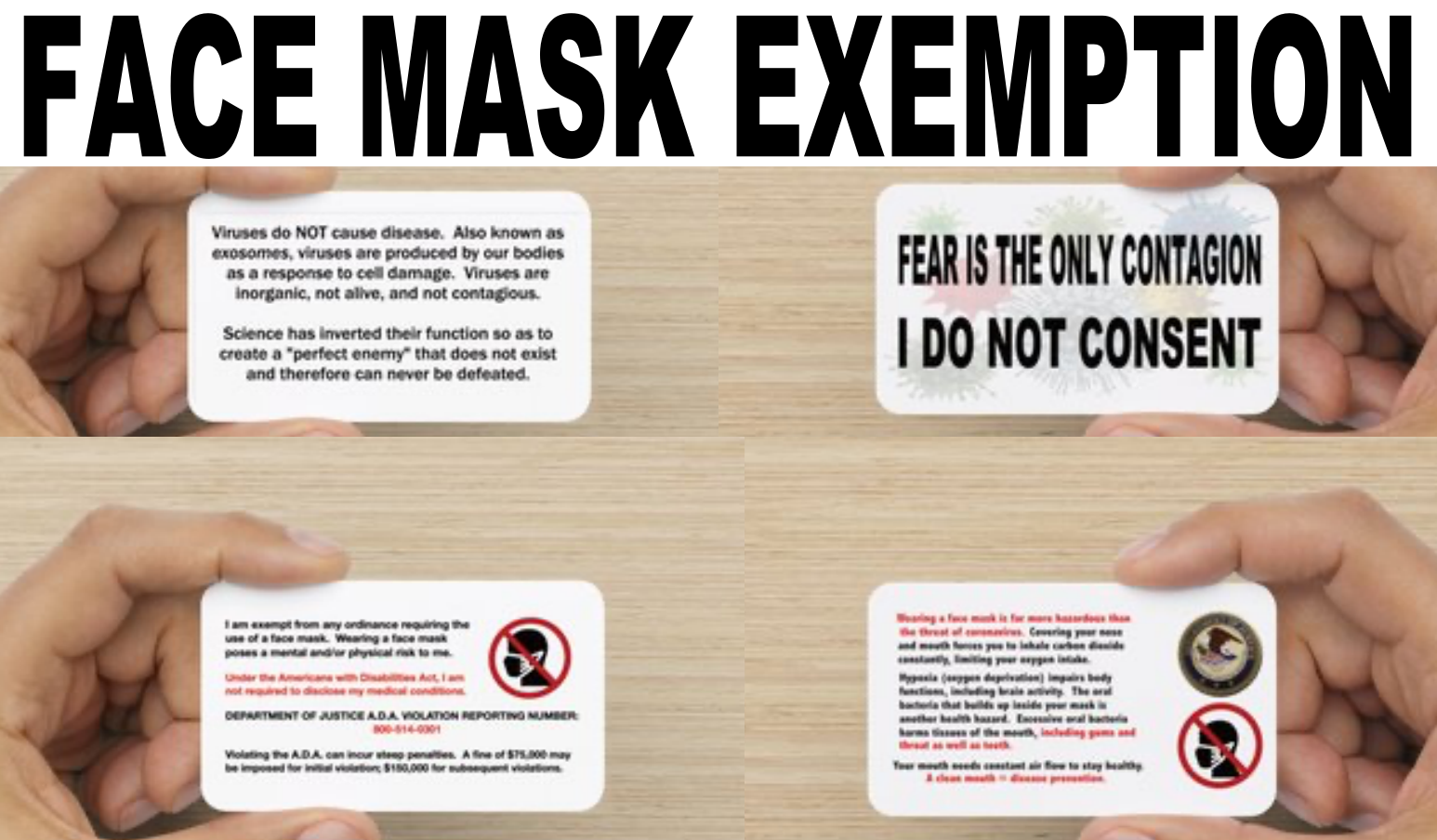 Face Mask Exemption